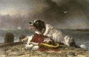 Sir edwin henry landseer,R.A. Saved oil painting